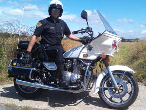 Chips Style Police Motorcycle